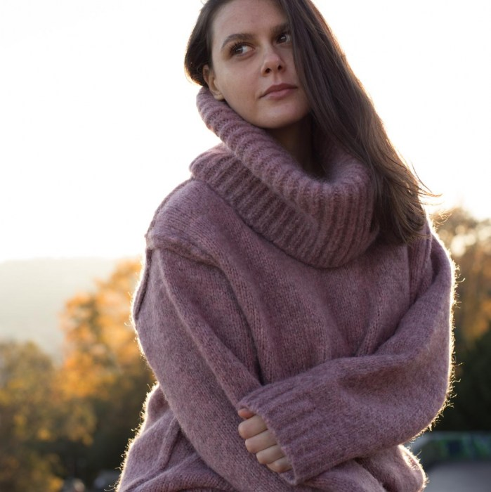 Giulia sweater dusty pink